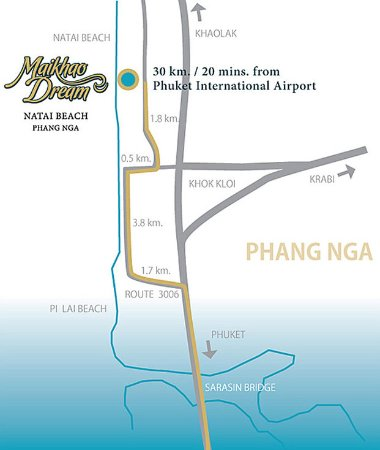 Natai Beach Resort & Spa, Phang-nga: Map