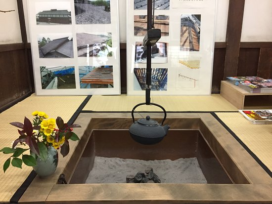 Takayama Jinya : public room for heaters and brief English introduction