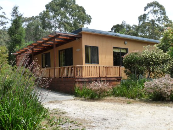 Sisters Beach, Australien: Casuarina Cottage at Eagles Rise has a covered BBQ area, Sisters Be