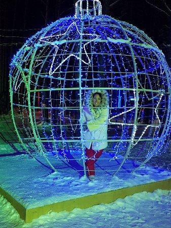 Mardengskoye, Russia: Главная аллея Чудес в вечернее время вся подсвечивается!