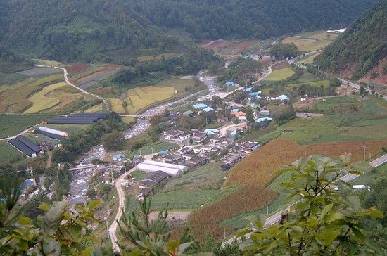 단양, 대한민국: 한드미마을 전경