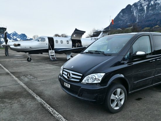 Andermatt, Schweiz: Enjoy luxury of our car during your drive to your flight whether is it private jet or lineflight