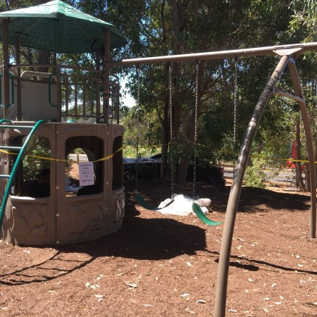 Construction of the playground, nearly ready  - Picture of