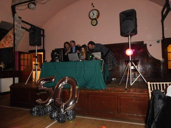 Meikleour, UK: Stage used for DJ/karaoke