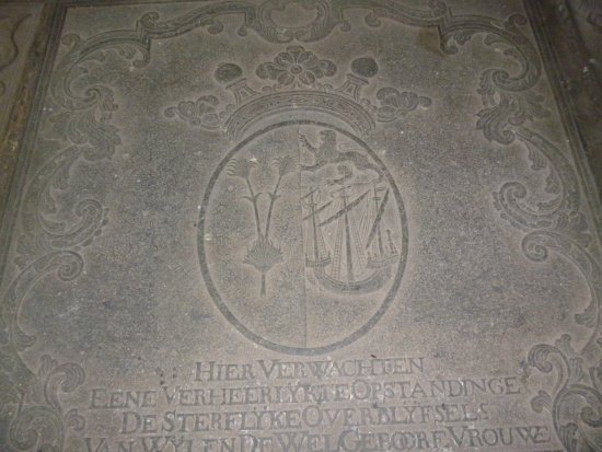 Wolvendaal Church: Detail from memorial in the church floor