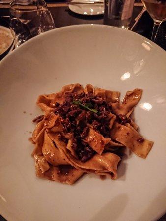 Casa Coppelle: Pappardelle al cinghiale estinto con olive taggiasche