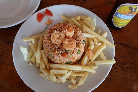 Punta Sur: Arroz de camarão