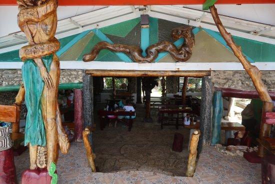 Punta Sur: Área interna do restaurante