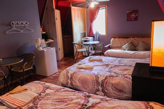 Divan Lits : Studio familial incluant deux lits double un divan lit double