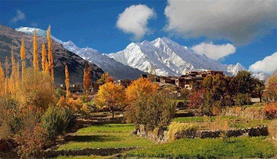 Rakaposhi Peak(7.788m) 29th highest peak in the world is located in HUnza-Nagar region,