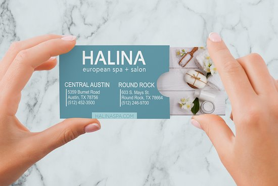 ‪‪Round Rock‬, تكساس: We make it easy to book appointments or buy gift cards - www.halinaspa.com or download our App.‬
