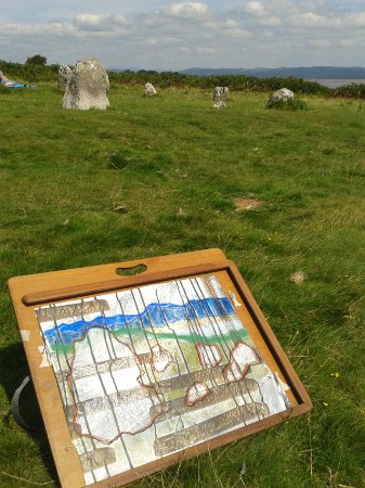 Ulverston, UK: Drawing at the Druid's Circle, aka Brikrigg Circle on a lovely bright day www.scribblah.co.uk