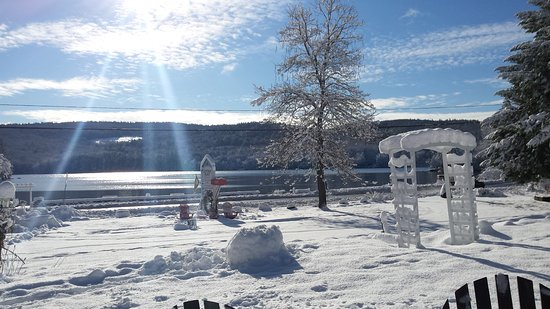 Cottage Place on Squam Lake: Evan's Cove is now frozen!