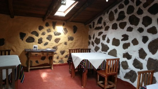 Finca Las Gangarras: One of the indoor dining areas