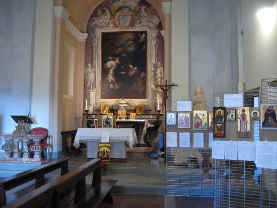 Santa Maria del Monte, Italie : Chiesa dell'Annunciata al Sacro Monte di Varese mostra di Icone