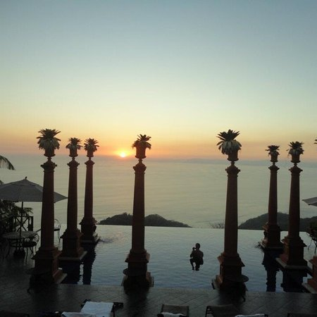 Sunset View from infinity pool at Zephyr Palace