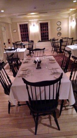 Durham, NH : Maples dining room at Three Chimneys Inn & ffrost Sawyer Tavern.