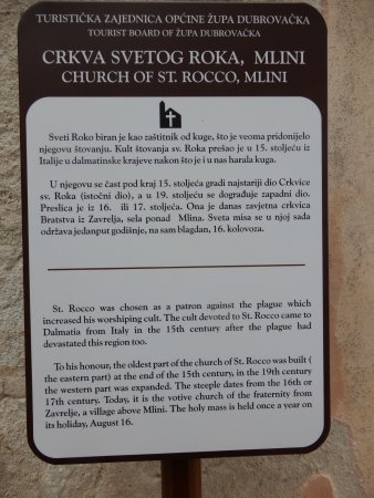 Oprtalj, Kroasia: Information on Church of St.Rocco.