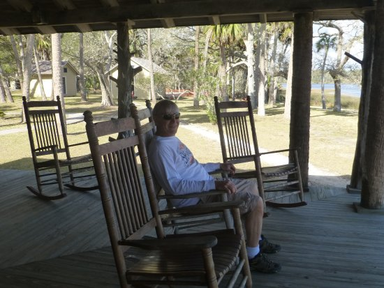 Princess Place Preserve : My husband enjoying the rocking chairs