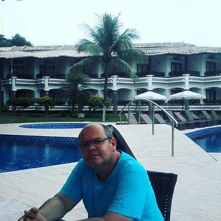 Best Western Shalimar Praia Hotel: Área da piscina ótimo lugar para um relaxamento, sauna e um final de tarde agradável, em boa cia