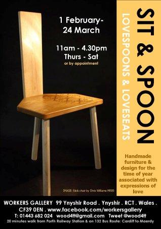 Rhondda, UK: Sit & spoon 2018 exhibition