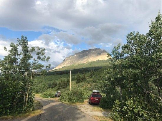 Saint Mary, MT: Loop B 90, looking toward entrance