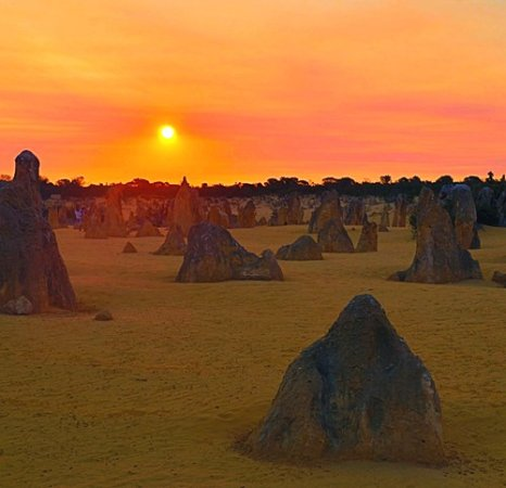 Sunset over the Pinnacles