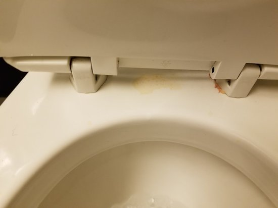 Fairfield Inn & Suites Beckley: Urine Stained Toilet & Cracked Sink