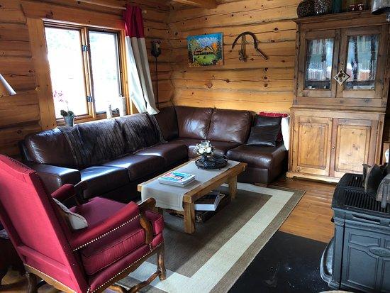 Sainte Brigitte de Laval, Canada: B&B living room