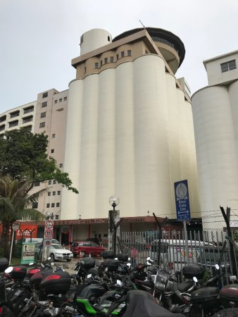 Flour mill with revolving restaurant on top