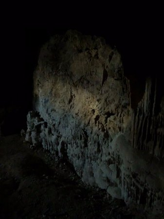 The only source of natural light in the caves Tecopa Cavern