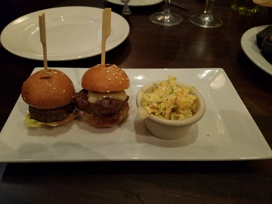 City Cellar Wine Bar & Grill : Kobe style sliders...usually 3 but for LI restaurant week one is missing!