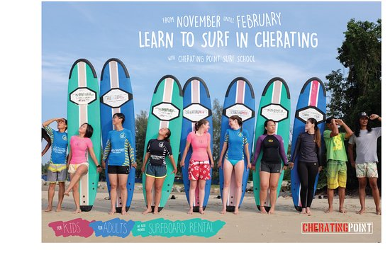 Cherating beach is the most suitable place for learn to surf sand bottom and long point break