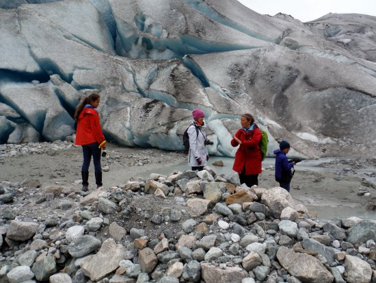 Gustavus, AK: Face of Reid glacier