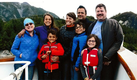 Gustavus, AK: Kids, grandkids and C's sister