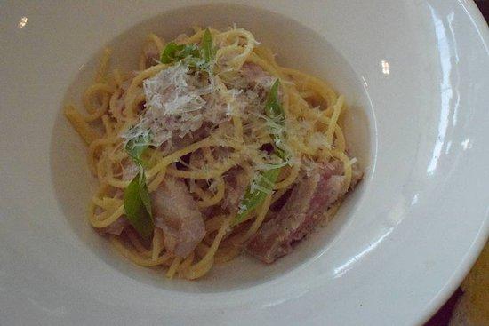 Jones the Grocer - Al Manara: Pan Seared Tuna with Spaghetti crispy capers and lemon reduction