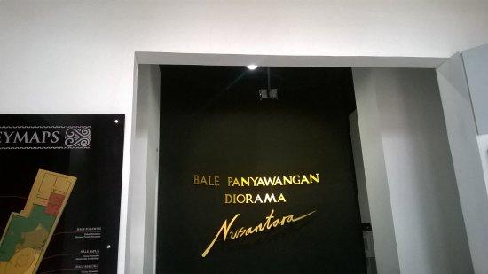 Purwakarta, Indonesien: Museum Bale Panyawangan Diorama Nusantara