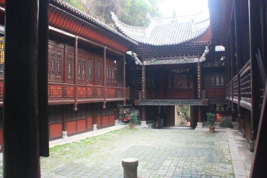 Qinglong Cave Ancient Architecture Group : Théâtre intérieur