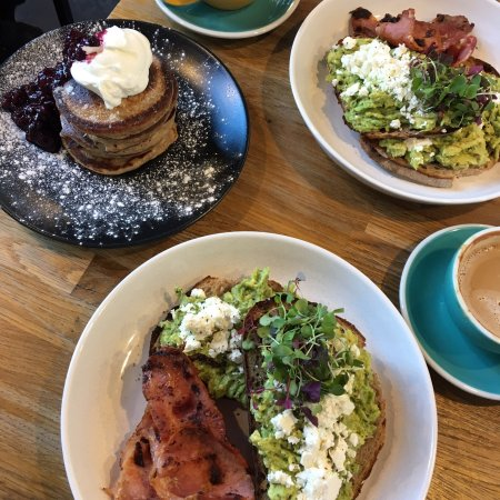 Avocado Toast With Bacon Pancakes Picture Of Baba Budan