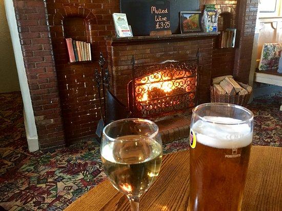 Acle Bridge Inn: most welcome fire