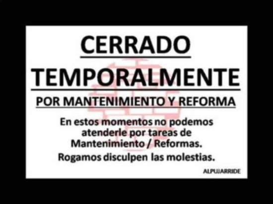 Torvizcon, Spanyol: cerrado por reforma