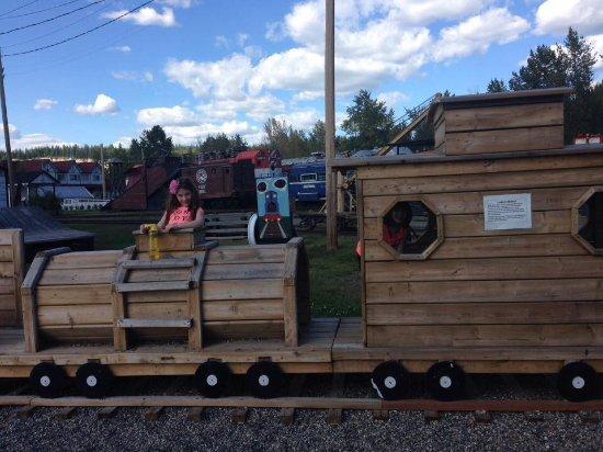 Prince George Railway Museum: wooden train