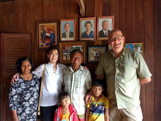 Banteay Meanchey Province, Cambodia: With our wonderful homestay hosts