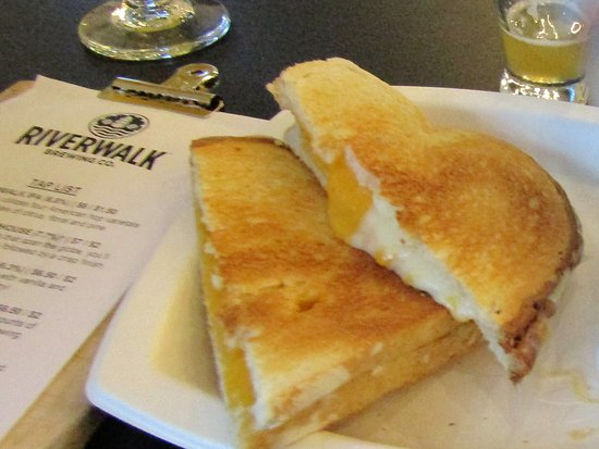 Newburyport, MA: One of their grilled cheeses so yummy