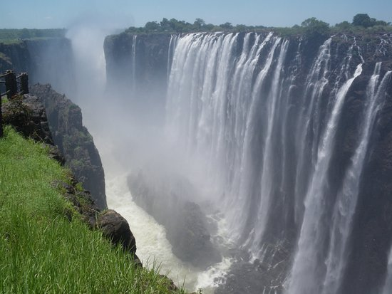 Part of the stunning Victoria Falls.