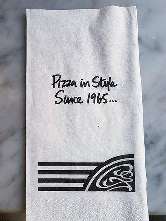 Napkin Picture Of Pizza Express Brighton Tripadvisor