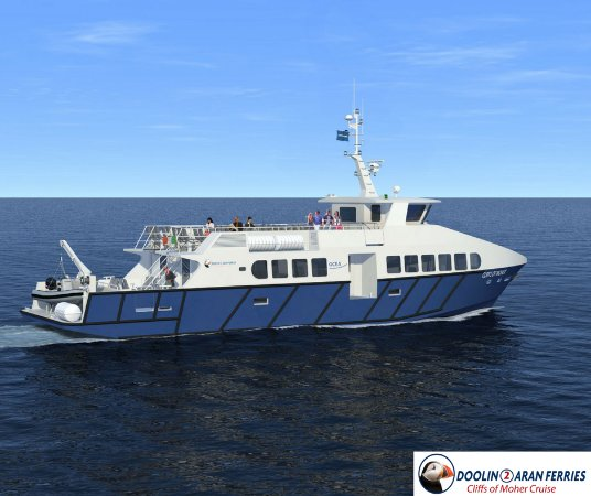 New 200 seat passenger ship from Doolin2Aran Ferries launching 2018