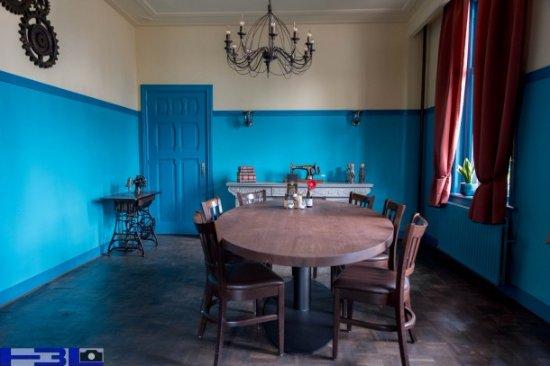 Leende, The Netherlands: Zaal met ovale tafel