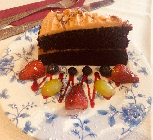 The Regency Tea Rooms: chocolate peanut butter cake!
