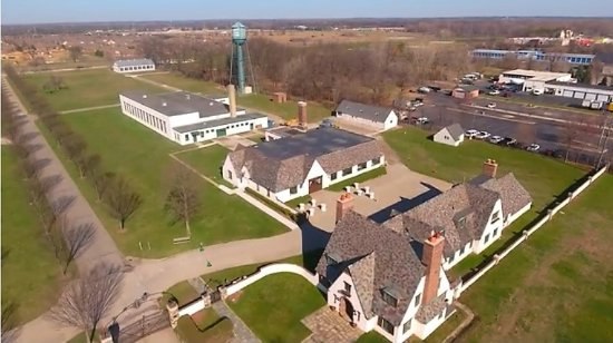 Shelby Township, มิชิแกน: Aerial View of the Packard Proving Grounds Historic Site